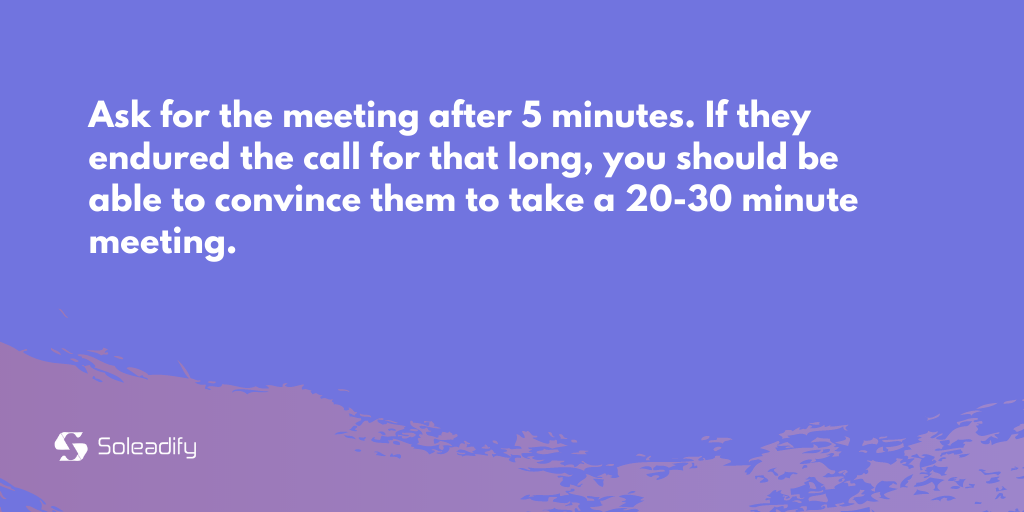 asking for a meeting in cold call