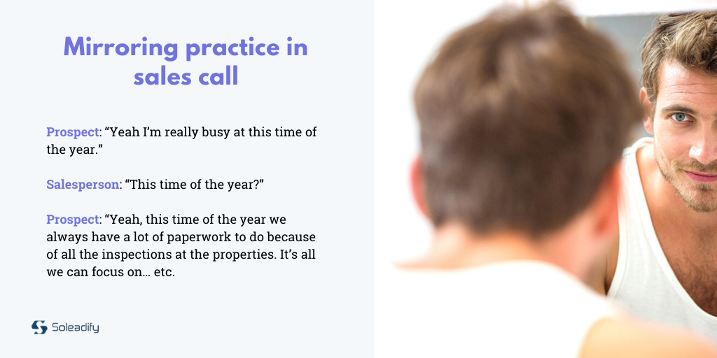cold calling best practice - mirroring