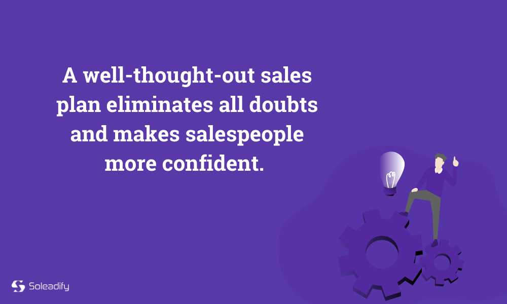 sales plan template drives confidence
