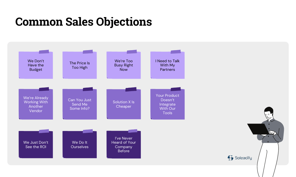 list of common sales objections