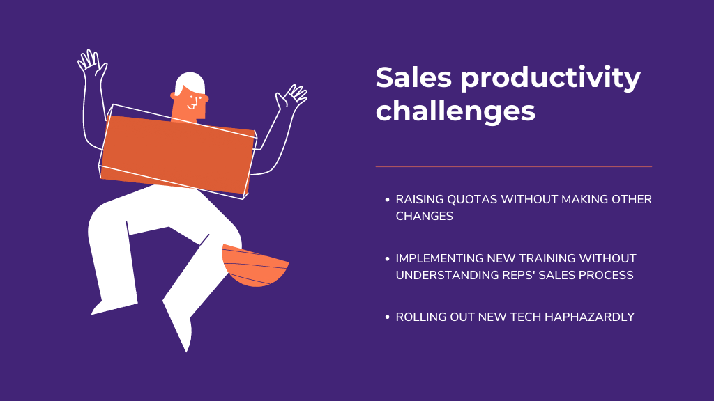 sales productivity challenges